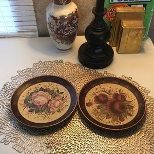 Home Interiors and Gifts Decorative Plates Floral